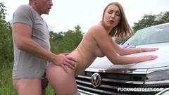 Frisky Russian girl was caught for hot sex Thumb