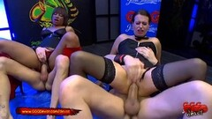 Frisky Black Mimi And Anabell More in extreme Pissing gangbang Thumb