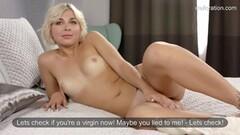 Kinky First time masturbation with Masha Johannson Thumb