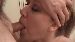 Thick girlfriend sucking my stiff cock after a shower Thumb