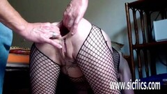 Butt fisting and colossal dildo fucked wife Thumb
