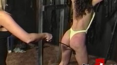 Hot lesbian Bambi Love in BDSM whipping session Thumb