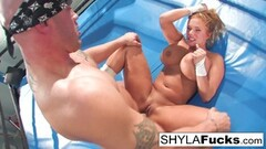 Shyla gets some steamy wrestling lessons Thumb