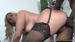 Dude cleans out his ball sac onto his maid (clip) Thumb