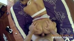 Hot short hair European girl satisfies her cock craving. Thumb