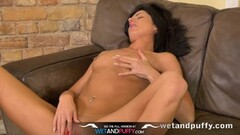 Wetandpuffy - Glass dildo play for her peachy pussy Thumb