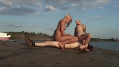 Sexy nordic teen threesome sex in public Thumb