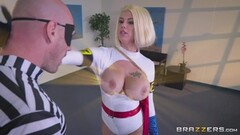 Hung thief sticks his big cock into super heroine Peta Jensen Thumb