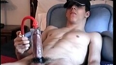Straight Boy Billy using penis pump Thumb