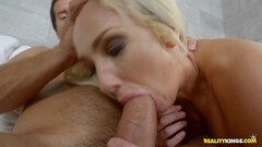 Fucking the hot minge of blonde MILF Olivia Fox Thumb