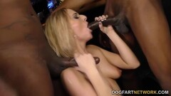 Blonde Kate England takes on BBC's in gangbang Thumb