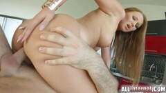 Sweet Hubby supported his Wife while being Screwed Thumb