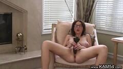 Teen babe dildo fucks her hot pussy Thumb
