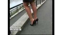 Stiletto babe Karen shoe fetish Thumb
