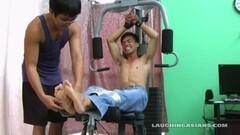 Gym tickling asians Thumb