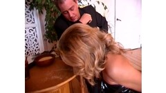 Hot schoolgirl comes home and puts on her moms kinky leather boots Thumb