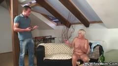 Classy brit mature in sylon stocking sex Thumb
