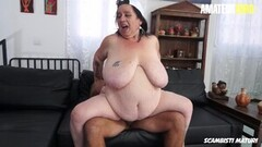 Large BBW Granny Drilled Hard On Cam By Lover Thumb