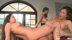 Naughty Keisha Grey Karlee Grey And Alex C Hot Scissoring Thumb