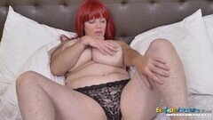 Hot Huge Breasts of Big Redhead Mature Thumb