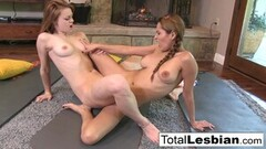 Frisky Cute Brunettes Get in A Lesbian Workout! Thumb