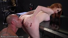 Insane Redhead Gets The Threesome Of Her Life With Cumshot Thumb