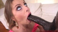 Hot blonde Brittany knows how to handle a big black cock Thumb