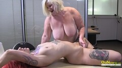 OldNannY Big Titted Blonde British Mature Adventuring Thumb