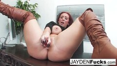 Naughty Jayden Jaymes Is sexy touching herself In the Office! Thumb