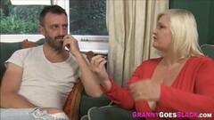 Cute Granny takes two dicks Thumb