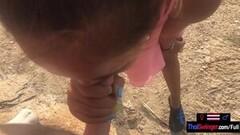 Horny Public blowjob from Thai teen girlfriend Thumb