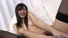 Sexy Japanese babe, Mio Arisaka is masturbating, uncensored Thumb