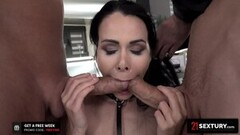 Double-Destroying Sexy Jessy Jey's Tight Holes Pre-Facial Thumb