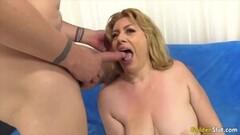 Sweet Blonde Grandma Sucking Comp Thumb