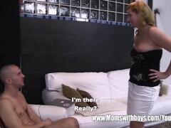 Stepson Caught Masturbating By His Blonde Horny Stepmom Thumb