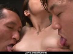 Perfect Asian office gangbang for tightMaki Hojo Thumb