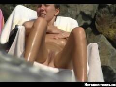 Nude Beach Girls Voyeur SpyCam HD Video Teaser Thumb