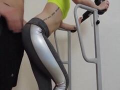 Fitness freak accidentally sucks a cock during a trainingv Thumb