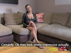 FakeAgentUK Big fat dick is too much for ebony babes tight arse Thumb