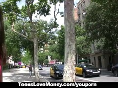 TeensLoveMoney - Cute Brunette Fucks In Public For Extra Cash Thumb
