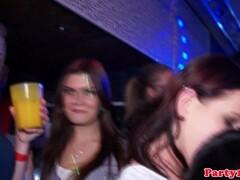 Handjob party babes in glamorous nightclub Thumb