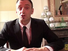 Redhead MILF Lizzy Lovers cuffed & stuffed hard in the ass Thumb