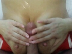 Busty MILF taking care of his penis Thumb