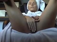 Hidden camera under desk caught mother masturbating Thumb