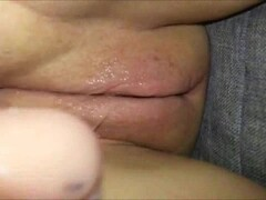 Teen pussy fucked by a huge dildo Thumb