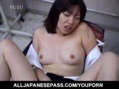 Chiharu Okuna gets fingers in licked cunt and hard penis in mouth Thumb