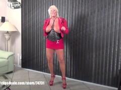 Sexy granny Mandi McGraw talking about sex toys Thumb