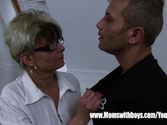 Mature Stepmom Comforting A Broken Hearted Stepson Thumb