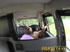 FakeTaxi Spanish brunette beauty with shaved pussy Thumb