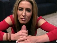 Hot blonde fingers her pussy Thumb